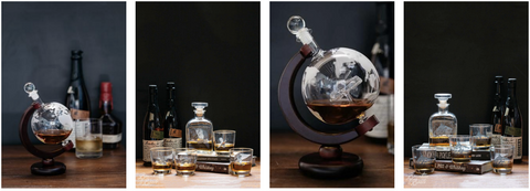 Shop the best whiskey glasses, decanters, and bourbon gifts and accessories.