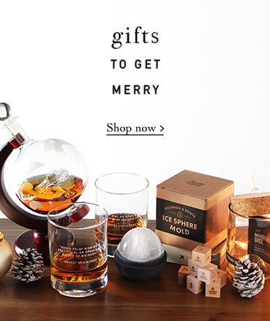 Give the gift of unique barware, decanters, and whiskey glasses