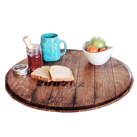 RECLAIMED NAPA VALLEY WINE BARREL WOODEN LAZY SUSAN