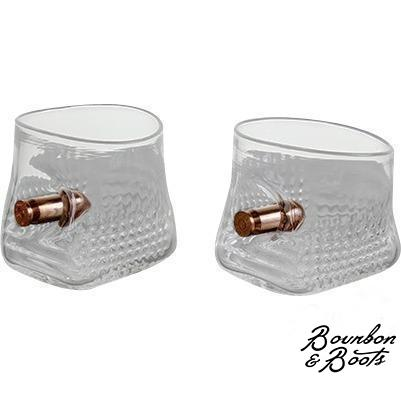 .45 Caliber Handcrafted Copper Bullet Shot Glass Set