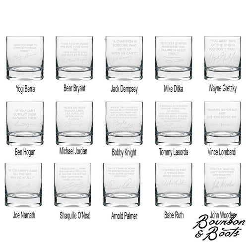 Sports Quotes Personalized Whiskey Glasses (Set of 2) image