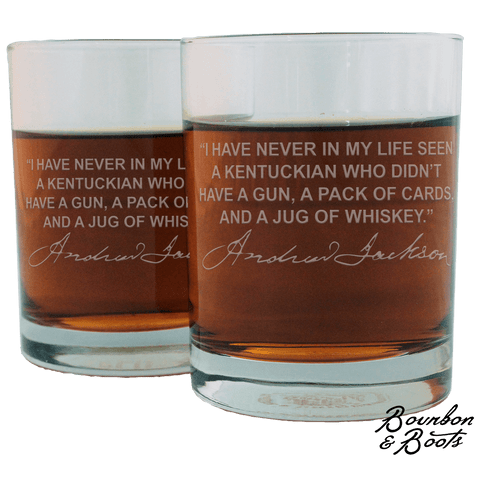 Andrew Jackson Whiskey Cocktail Glasses (Set of 2)