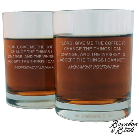 Scotch Lovers Engraved Personalized Whiskey Glasses (Set of 2)