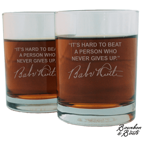Sports Quotes Personalized Whiskey Glasses (Set of 2)
