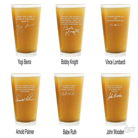 Sports Quotes Personalized Beer Glasses Best Sellers
