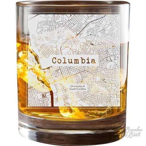 College Town Etched City Map Cocktail Glasses (Set of 2) image
