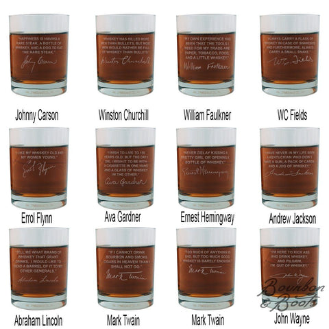 Whiskey Lovers Engraved Personalized Whiskey Glasses Full Set