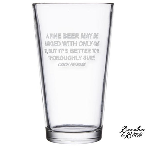 Famous Beer Quotes Personalized Beer Pint Glasses (Set of 2) image