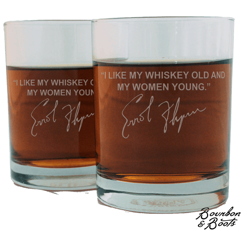 Errol Flynn Whiskey Cocktail Glasses (Set of 2)