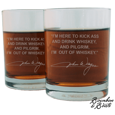 John Wayne Whiskey Cocktail Glasses (Set of 2)