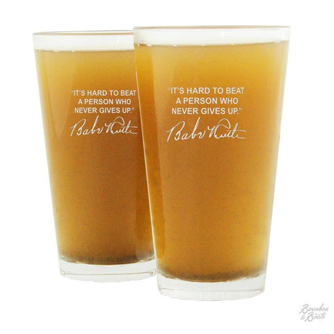 Sports Quotes Personalized Beer Glasses (Set of 2)
