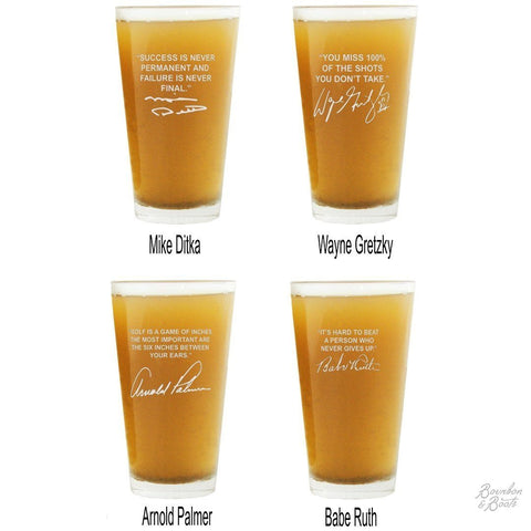Sports Quotes Personalized Beer Glasses Top Selling