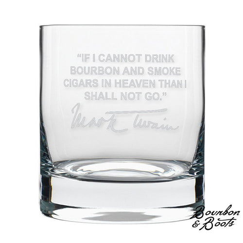 Mark Twain Whiskey Cocktail Glasses (Set of 2) image