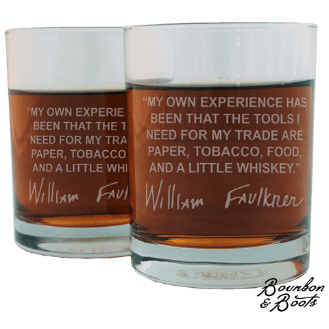 William Faulkner Whiskey Cocktail Glasses (Set of 2)