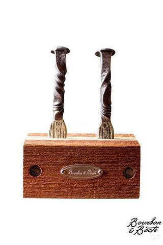 All Natural Wood Oyster Shucker Holder