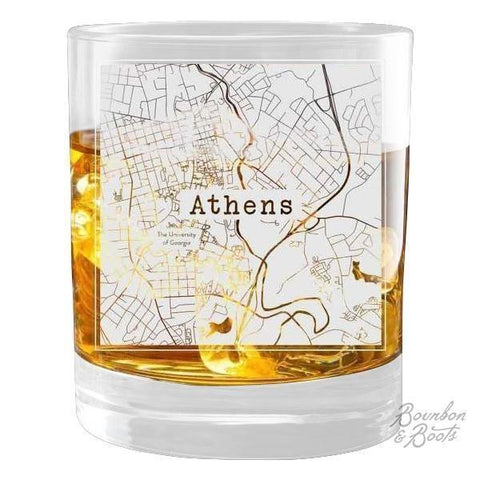 College Town Alumni Etched Map Collection