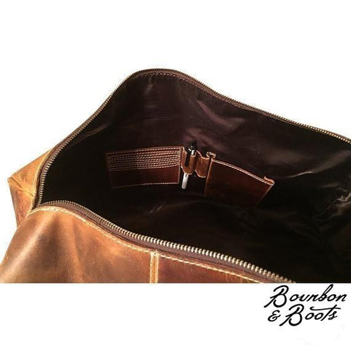 Handcrafted Buffalo Leather Duffel Bag image