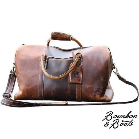 Handcrafted Buffalo Leather Duffel Bag
