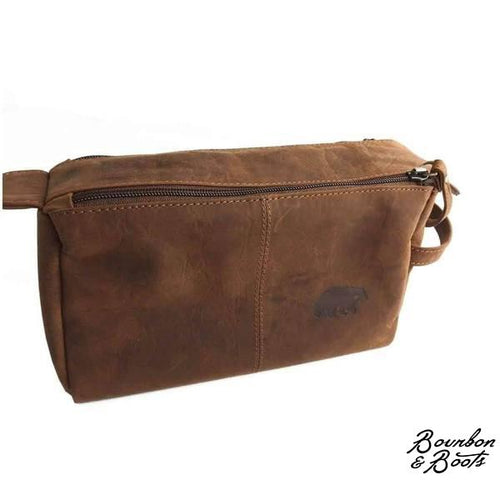 Handcrafted Large Buffalo Leather Dopp Kit image