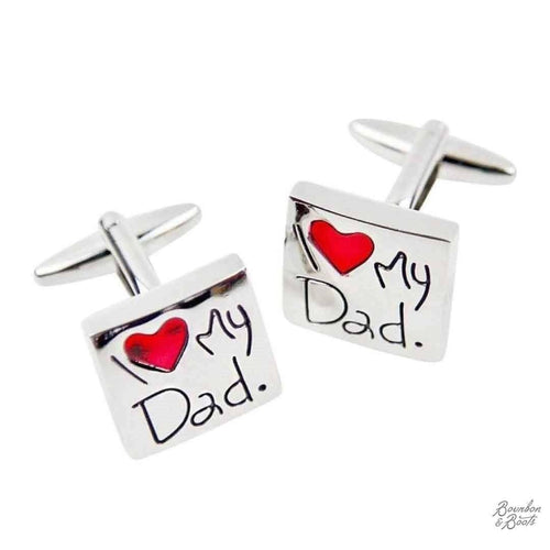 I Love My Dad Stainless Stainless Steel Cufflinks image