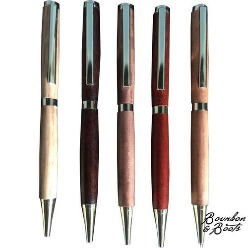 Handcrafted Slimline Cherry Wood Pen image