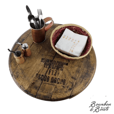 Reclaimed Barrel Top Wooden Lazy Susan
