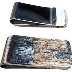 Reclaimed Bourbon Barrel Money Clip image