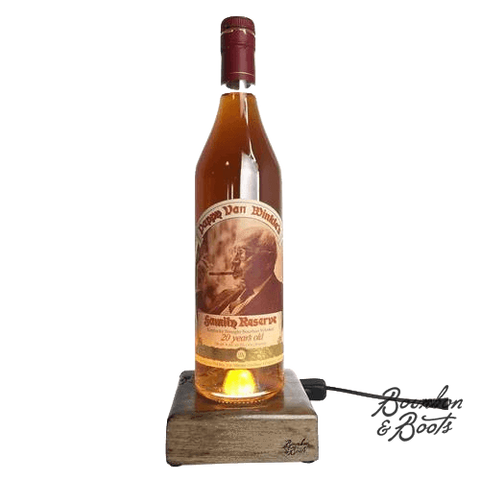 Reclaimed Bourbon & Whiskey Bottle Liquid Desk Lamp