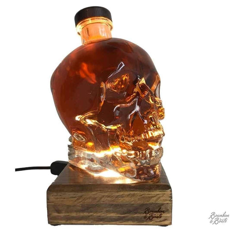 Reclaimed Crystal Head Vodka Liquid Desk Lamp