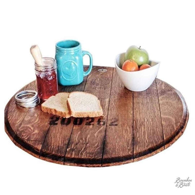 French Wine Barrel Wooden Lazy Susan
