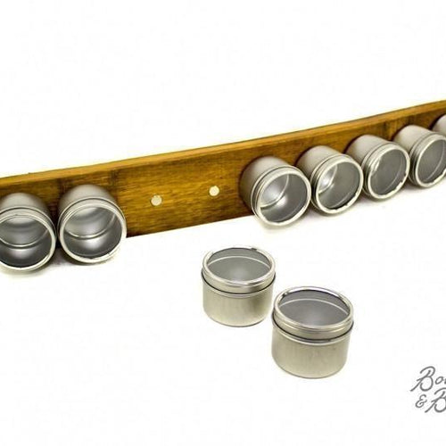 Reclaimed Wine Barrel Spice Rack image
