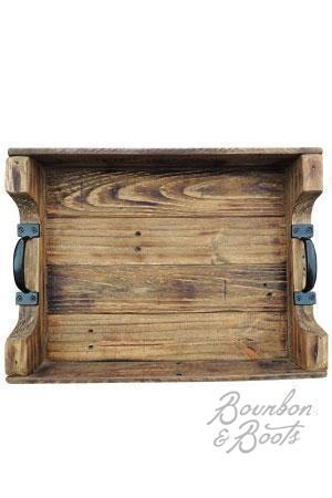 Rustic Wood Coffee Table Serving Tray