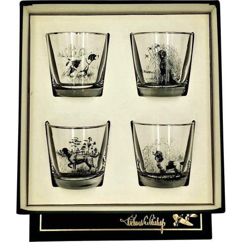 Sporting Dogs Old Fashion Glass Set