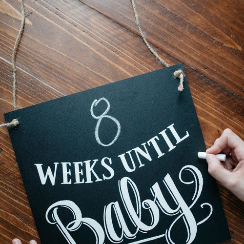 Slate the Date: The Countdown to Baby Chalkboard image