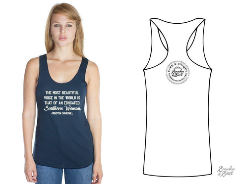 Southern Woman Imprinted Bamboo Tank Top Apparel