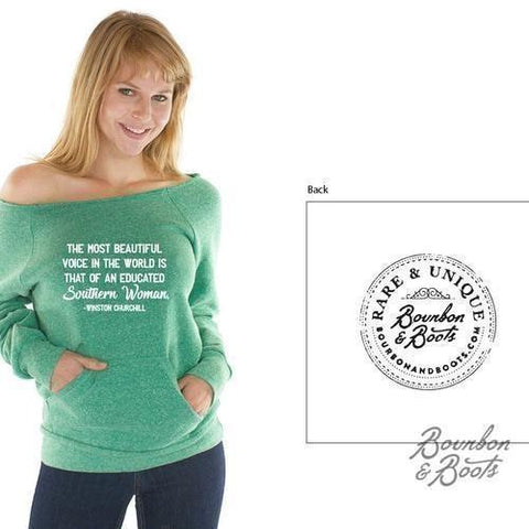 Southern Woman Imprinted Raglan Top Apparel