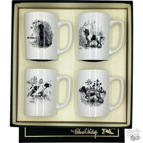 Sporting Dogs Porcelain Coffee Mug Set