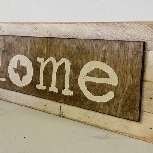 ... Texas Home Wood Sign Wall Decor Image ...