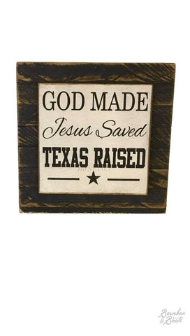 Texas Home Wood Sign Wall Decor