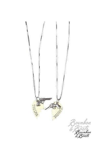 Thelma & Louise Friendship Half Heart Necklace