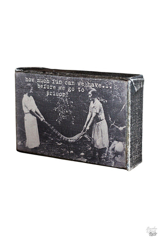 Vintage Stretched Women's Humor Canvas Print