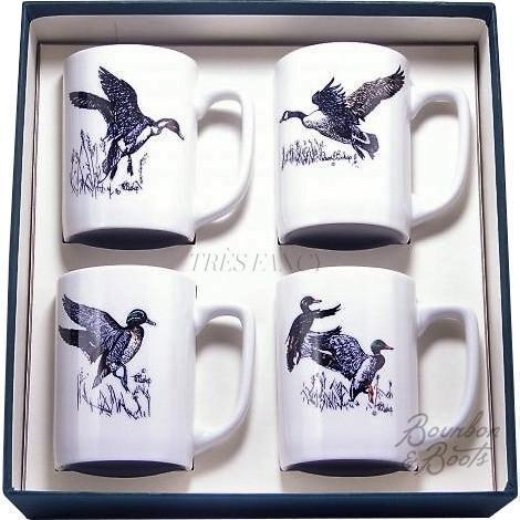 Waterfowl Porcelain Coffee Mug Set