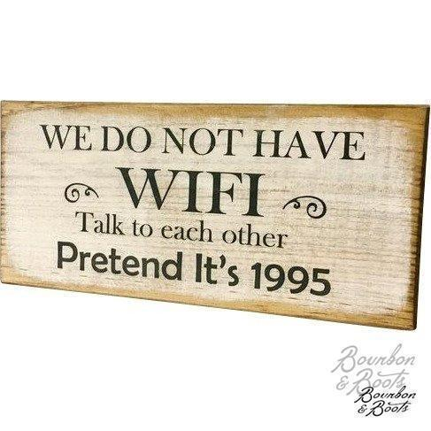 WIFI Wooden Wall or Tabletop Decor Sign image