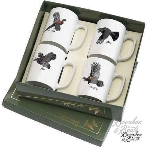 Wild Game Bird Porcelain Coffee Mug Set