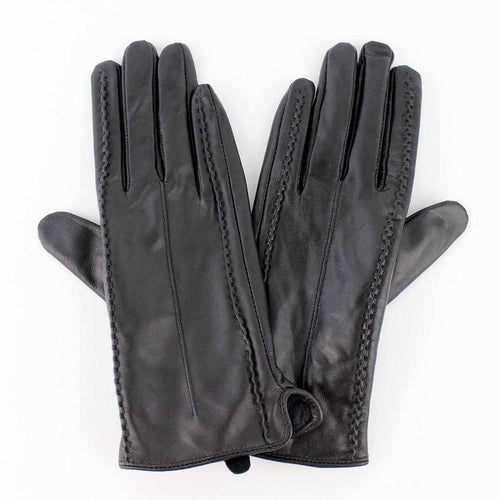 Women's Lambskin Leather Gloves with Cashmere Lining image