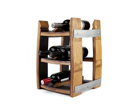 RECLAIMED WINE BARREL TABLETOP WINE RACK