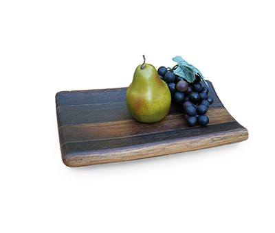 RECLAIMED SONOMA COUNTY WINE BARREL SERVING TRAY