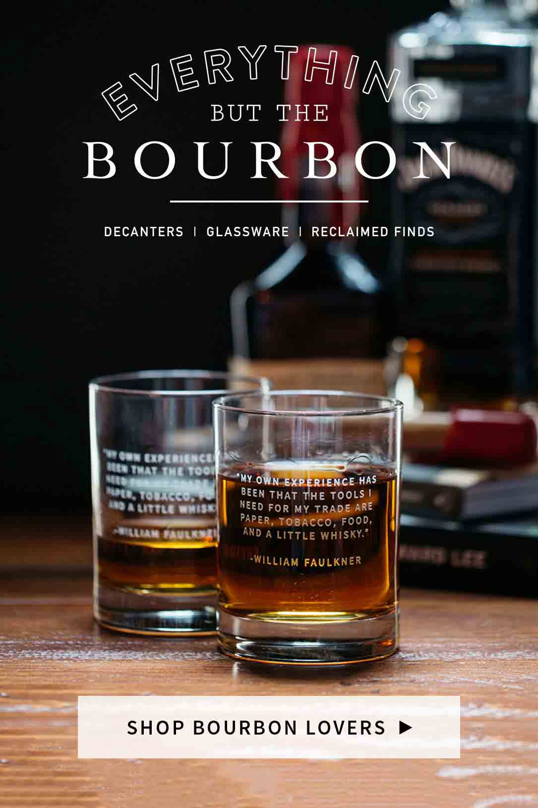 Shop Bourbon Lover Barware Glassware And Reclaimed Finds