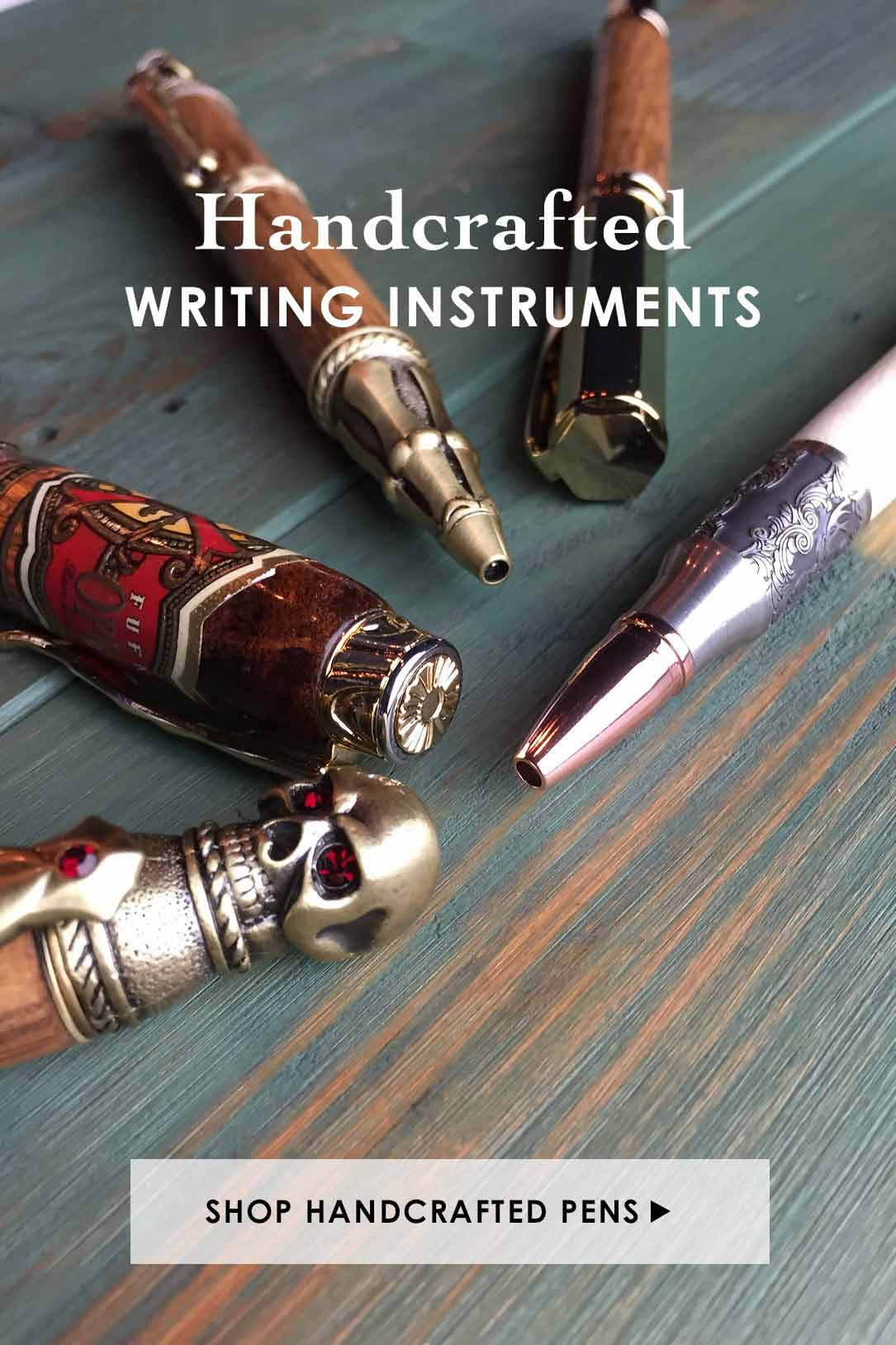 Shop Unique Handcrafted Pens and Writing Instraments