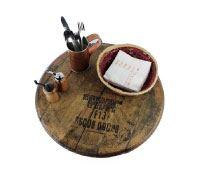 RECLAIMED BOURBON BARREL LAZY SUSAN
